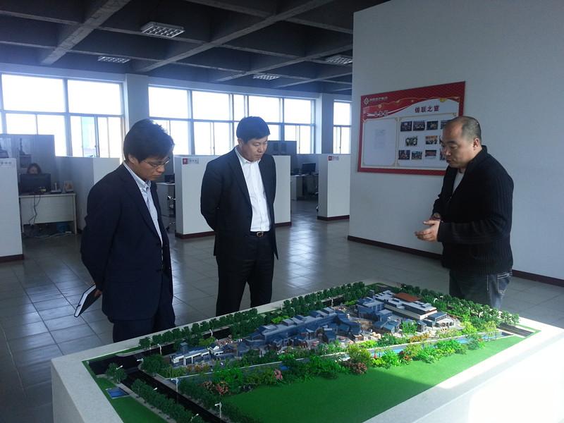 盘锦市兴隆台区区委宣传部部长莅临盘锦项目视察指导